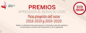 Cartel del premio aprendizaje-servicio