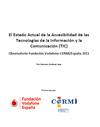 Portada del Estado Actual de la Accesibilidad de las Tecnologías de la Información y la Comunicación (TIC)