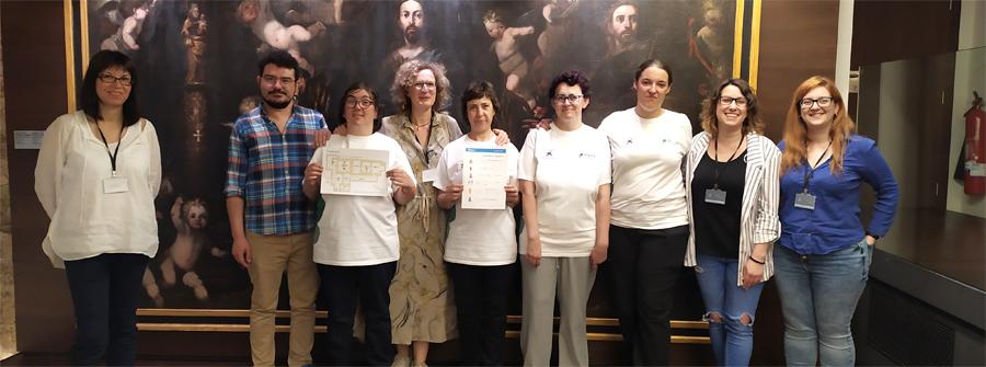 Imagen del equipo del proyecto de accesibilidad en el museo