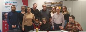 Miembros del equipo directivo de EPSA en la reunión