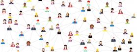 dibujo de red de personas