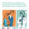 Portada de Información para padres ante la sospecha de un problema del desarrollo social y comunicativo