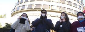 Personas con discapacidad manifestándose por el derecho al voto