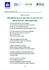 Portada del Manifiesto de CERMI Mujeres con motivo del Día Internacional de la Mujer 2017 (lectura fácil)