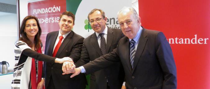Firma del convenio con Santader, Fundación Universia