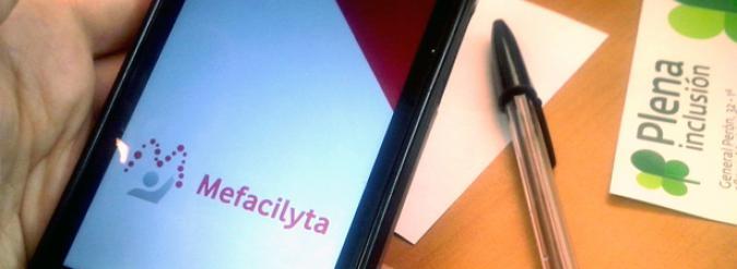 Imagen de la aplicación Mefacilyta en un móvil