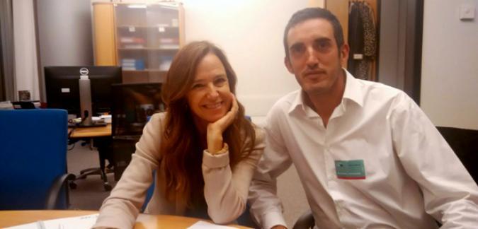 Roberto Casillas y tereja Jiménez Becerril durante la reunión