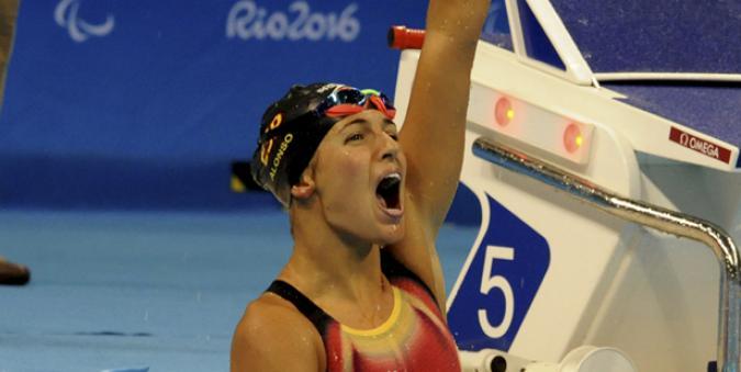Michelle Alonso en el momento de su victoria