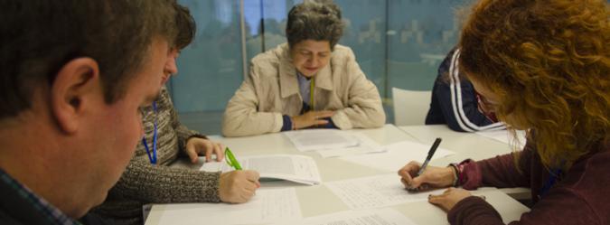 Actividad de formación de personas con discapacidad intelectual
