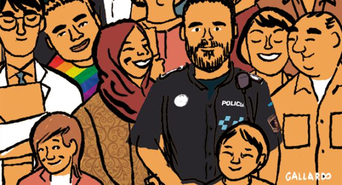 Dibujo de la policia de fuenlabrada
