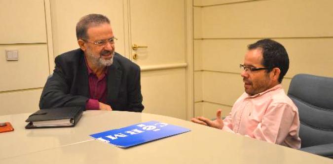 Nemesio de Lara con Jesús Martín Blanco