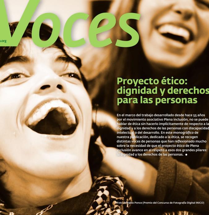 Monográfico de VOCES sobre el proyecto ético de Plena inclusión