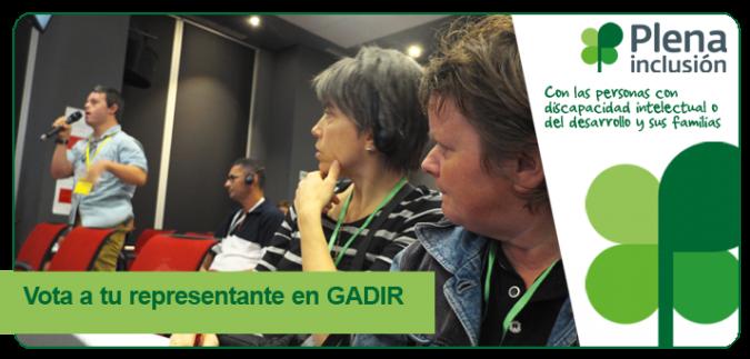 Cartel de votación de GADIR