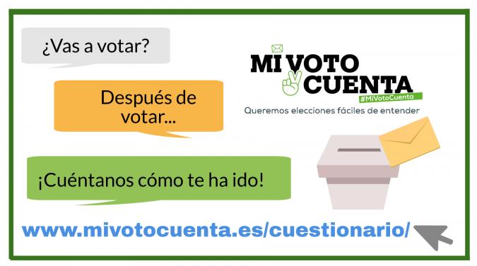 ¿Vas a votar? ¡Cuéntanos tu opinión? Mi voto cuenta