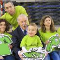 Vicente del Bosque con personas con discapacidad intelectual