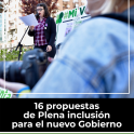 Portada de 16 propuestas de Plena inclusión  para el nuevo Gobierno
