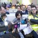 Maria del Mar Caamaño leyendo el Manifiesto de Plena inclusión por el derecho al voto de las personas con discapacidadintelectual