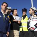 Grupo de ocio en bicicleta