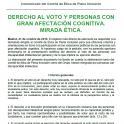 Portada del Comunicado del Comité de Ética de Plena inclusión sobre derecho al voto de personas con grandes necesidades de apoyo a nivel cognitivo