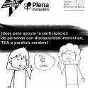 Portada del documento, Ideas para apoyar la participación de personas con discapacidad intelectual, TEA o parálisis cerebral
