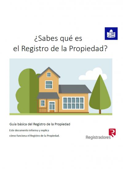 ¿Sabes qué es el Registro de la Propiedad? Ilustración casa y logo lectura fácil
