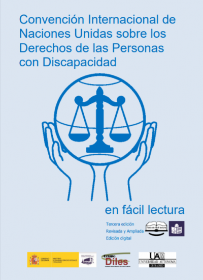 Portada de la Convención Internacional de Naciones Unidas sobre los Derechos de las Personas con Discapacidad en fácil lectura