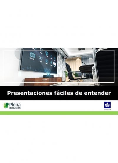 portada presentaciones fáciles de entender pantalla con presentación