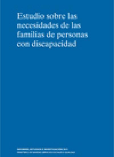 Portada Estudio sobre las Necesidades de las familias de personas con discapacidad