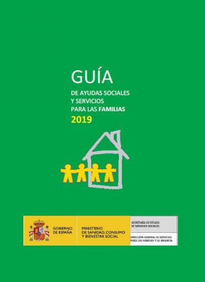 Portada de Guía de ayudas sociales y servicios para las familias 2019