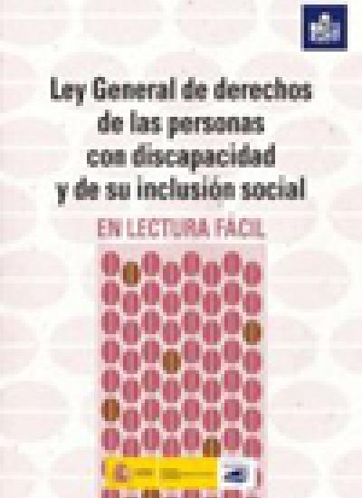Portada de la Ley General de derechos de las personas con discapacidad y de su inclusión social