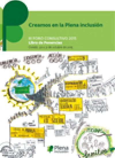 Portada del libro de ponencias del Foro Consultivo de Plena inclusión 2015