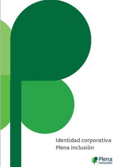 Portada del resumen de identidad corporativa de Plena inclusión