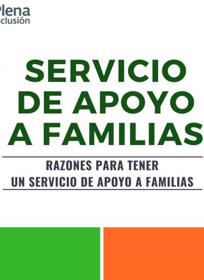 Portada de Razones para tener un Servicio de Apoyo a Familias