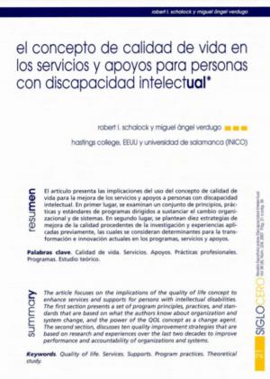 Ver El concepto de calidad de vida en los servicios y apoyos para personas con discapacidad intelectual