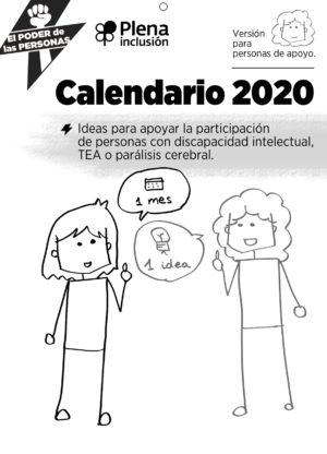 Ver Calendario 2020 de Plena inclusión para personas de apoyo
