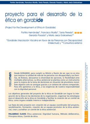 Ver Proyecto de desarrollo de la ética en Gorabide