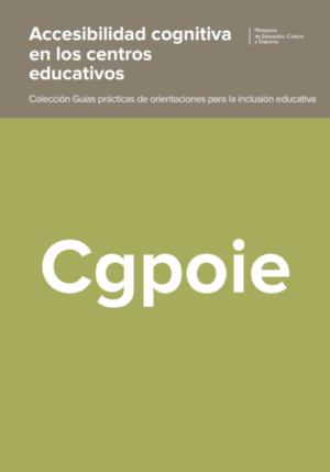 Ver Accesibilidad cognitiva en los centros educativos