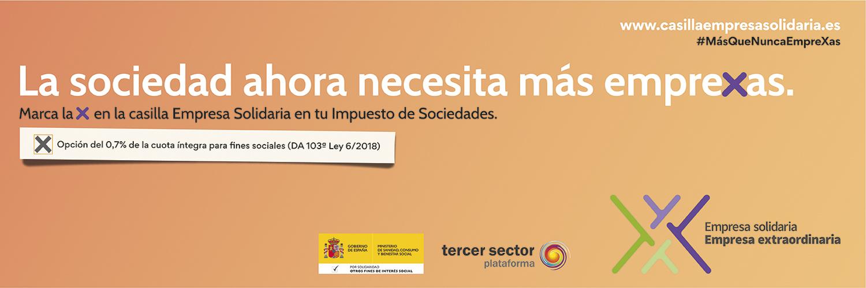 Ir a : El Tercer Sector confía en que las empresas españolas hayan marcado la Casilla Empresa Solidaria del Impuesto de Sociedades y espera superar la recaudación del pasado año