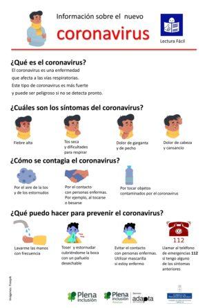 Ver Infografía – Información sobre el nuevo Coronavirus (Lectura Fácil)