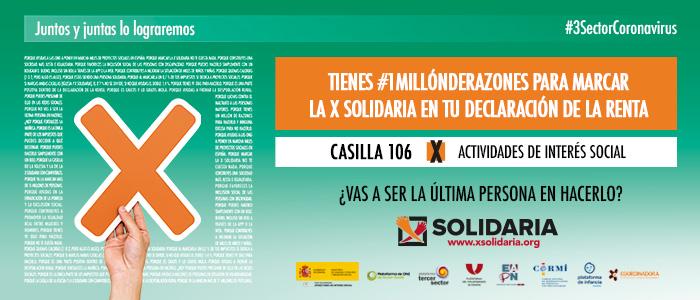 """Ir a : Marcar la """"X Solidaria"""" en la declaración de la renta: un gesto de compromiso y solidaridad ciudadana en tiempos de crisis"""