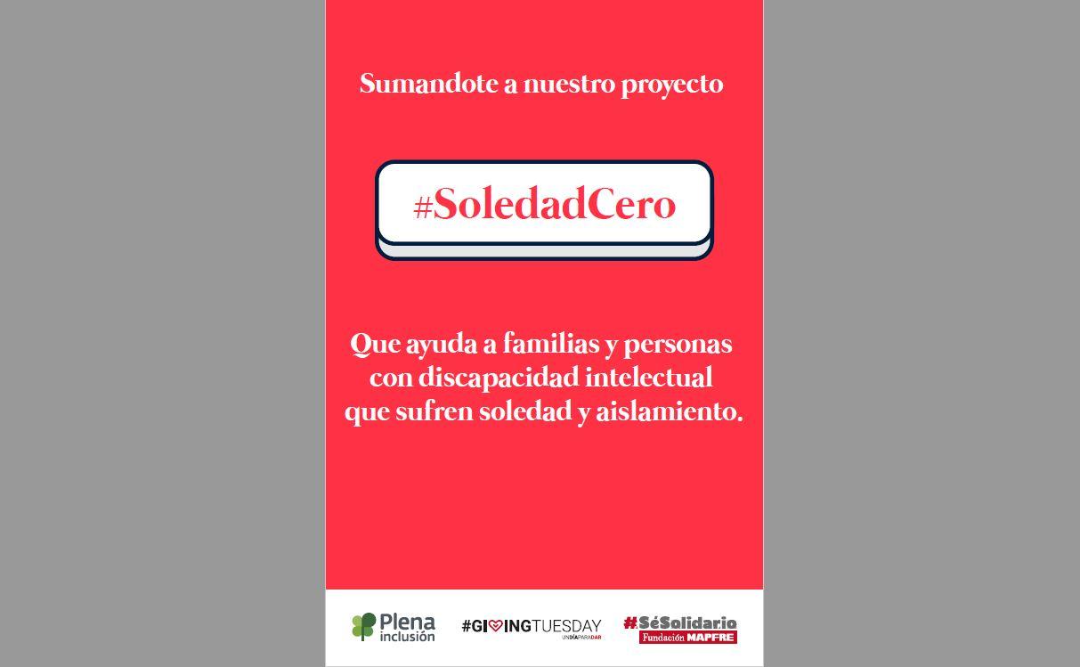 Ir a : Fundación Mapfre lanza una campaña de apoyo a Soledad Cero, el proyecto de Plena inclusión de apoyo a situaciones de soledad de familias y personas con discapacidad