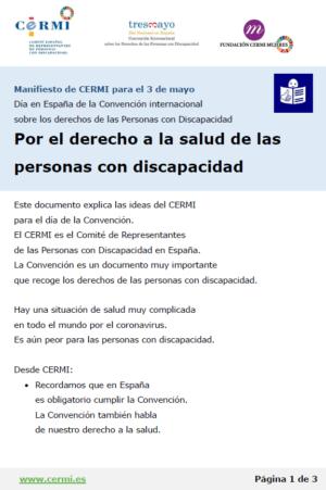 Ver CERMI. Manifiesto 3 de mayo. Día de la Convención