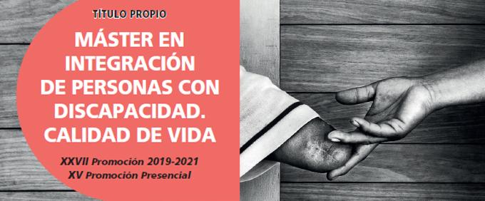 Ir a : Plena inclusión e INICO organizan una nueva edición de su Máster en «Integración de Personas con Discapacidad. Calidad de Vida»