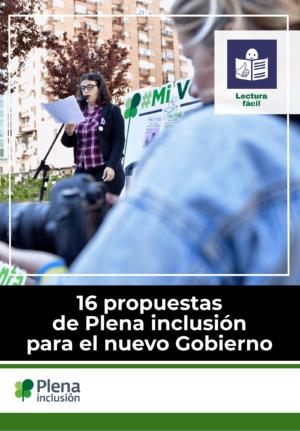 Ver 16 propuestas de Plena inclusión  para el nuevo Gobierno (Lectura Fácil)
