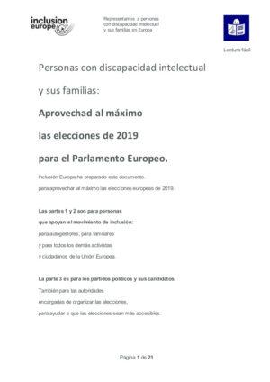 Ver Aprovechad al máximo las elecciones de 2019 para el Parlamento Europeo