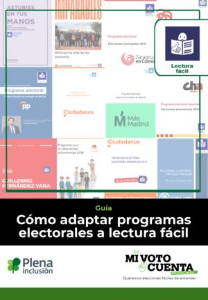 Ver Cómo adaptar programas electorales a lectura fácil