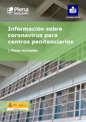 Ver Información sobre el coronavirus para centros penitenciarios. Lectura fácil