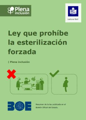 Ver Plena inclusión. Ley que prohíbe la esterilización forzada. Lectura fácil