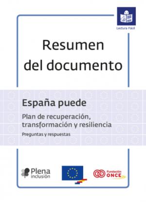 Ver Plena inclusión. España puede. Plan de Recuperación. Resumen. Lectura fácil