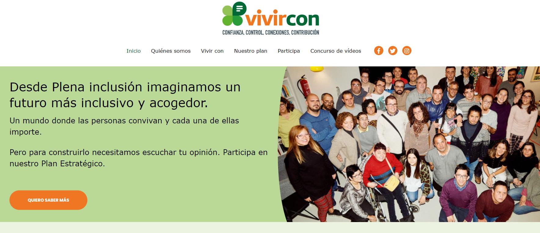 Ir a : Nace vivircon, la iniciativa para participar en el próximo plan estratégico del movimiento asociativo Plena inclusión